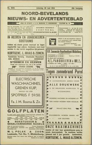 Noord-Bevelands Nieuws- en advertentieblad 1934-06-30