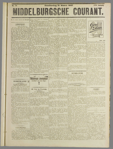 Middelburgsche Courant 1927-03-31