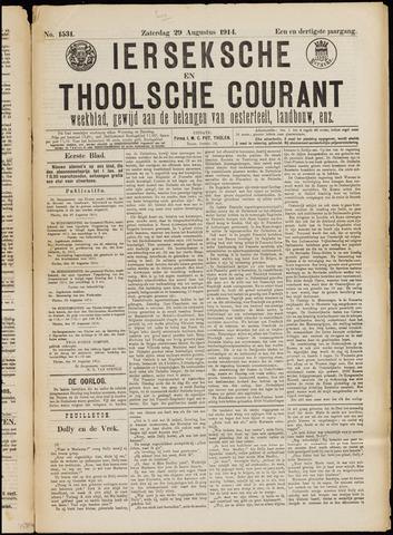 Ierseksche en Thoolsche Courant 1914-08-29