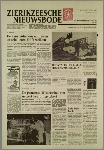 Zierikzeesche Nieuwsbode 1974-11-12