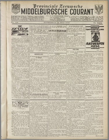 Middelburgsche Courant 1930-07-10