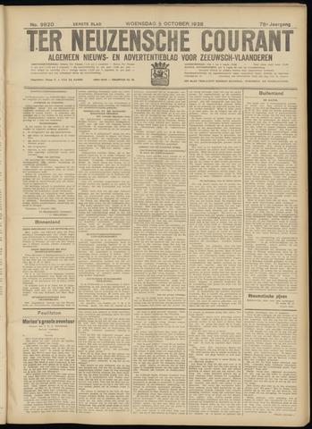 Ter Neuzensche Courant. Algemeen Nieuws- en Advertentieblad voor Zeeuwsch-Vlaanderen / Neuzensche Courant ... (idem) / (Algemeen) nieuws en advertentieblad voor Zeeuwsch-Vlaanderen 1938-10-05