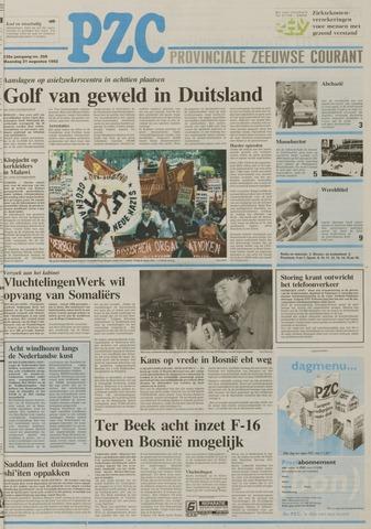 Provinciale Zeeuwse Courant 1992-08-31