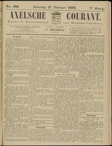 Axelsche Courant 1892-02-27