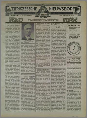 Zierikzeesche Nieuwsbode 1940-01-24