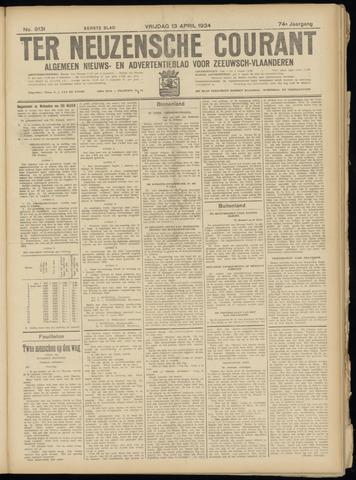Ter Neuzensche Courant. Algemeen Nieuws- en Advertentieblad voor Zeeuwsch-Vlaanderen / Neuzensche Courant ... (idem) / (Algemeen) nieuws en advertentieblad voor Zeeuwsch-Vlaanderen 1934-04-13