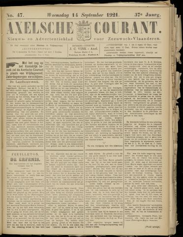 Axelsche Courant 1921-09-14