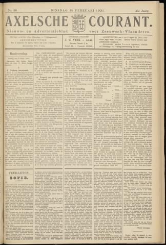 Axelsche Courant 1931-02-10