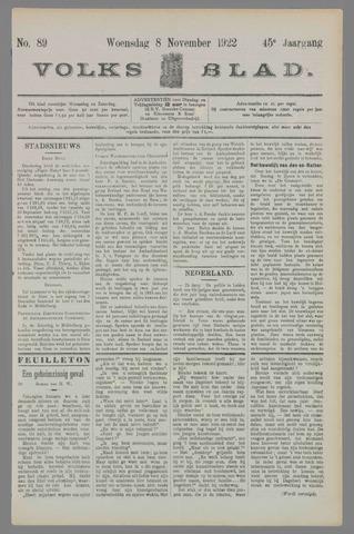 Volksblad 1922-11-08