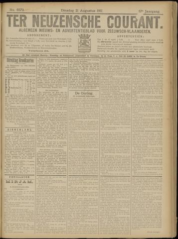 Ter Neuzensche Courant. Algemeen Nieuws- en Advertentieblad voor Zeeuwsch-Vlaanderen / Neuzensche Courant ... (idem) / (Algemeen) nieuws en advertentieblad voor Zeeuwsch-Vlaanderen 1917-08-21