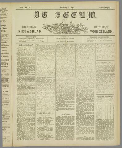 De Zeeuw. Christelijk-historisch nieuwsblad voor Zeeland 1896-04-09