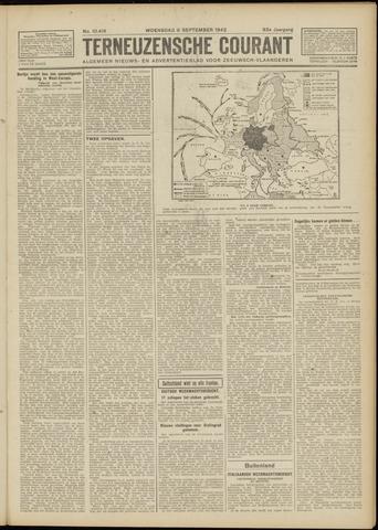 Ter Neuzensche Courant. Algemeen Nieuws- en Advertentieblad voor Zeeuwsch-Vlaanderen / Neuzensche Courant ... (idem) / (Algemeen) nieuws en advertentieblad voor Zeeuwsch-Vlaanderen 1942-09-09