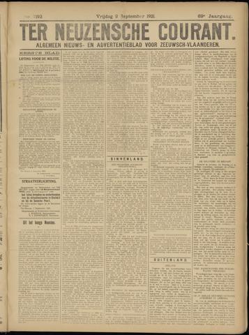 Ter Neuzensche Courant. Algemeen Nieuws- en Advertentieblad voor Zeeuwsch-Vlaanderen / Neuzensche Courant ... (idem) / (Algemeen) nieuws en advertentieblad voor Zeeuwsch-Vlaanderen 1921-09-02