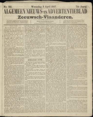 Ter Neuzensche Courant. Algemeen Nieuws- en Advertentieblad voor Zeeuwsch-Vlaanderen / Neuzensche Courant ... (idem) / (Algemeen) nieuws en advertentieblad voor Zeeuwsch-Vlaanderen 1867-04-03