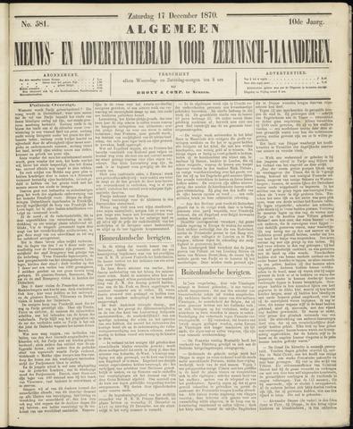 Ter Neuzensche Courant. Algemeen Nieuws- en Advertentieblad voor Zeeuwsch-Vlaanderen / Neuzensche Courant ... (idem) / (Algemeen) nieuws en advertentieblad voor Zeeuwsch-Vlaanderen 1870-12-17