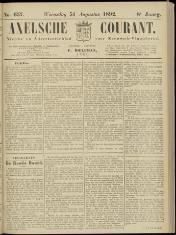 Axelsche Courant 1892-08-31