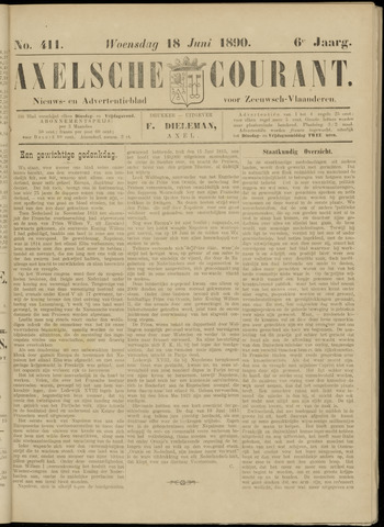 Axelsche Courant 1890-06-18