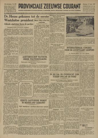 Provinciale Zeeuwse Courant 1949-09-13