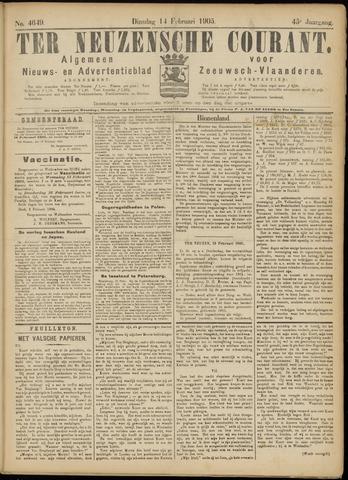 Ter Neuzensche Courant. Algemeen Nieuws- en Advertentieblad voor Zeeuwsch-Vlaanderen / Neuzensche Courant ... (idem) / (Algemeen) nieuws en advertentieblad voor Zeeuwsch-Vlaanderen 1905-02-14