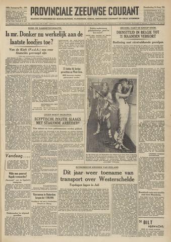 Provinciale Zeeuwse Courant 1952-08-14
