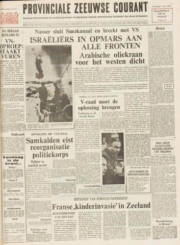 Provinciale Zeeuwse Courant 1967-06-07
