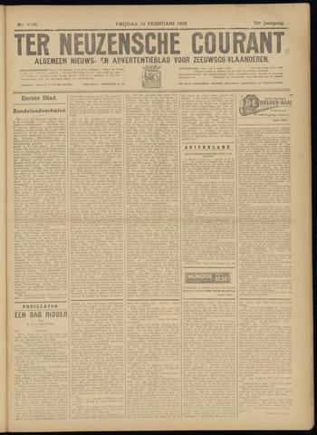 Ter Neuzensche Courant. Algemeen Nieuws- en Advertentieblad voor Zeeuwsch-Vlaanderen / Neuzensche Courant ... (idem) / (Algemeen) nieuws en advertentieblad voor Zeeuwsch-Vlaanderen 1932-02-12