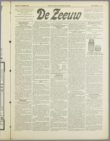 De Zeeuw. Christelijk-historisch nieuwsblad voor Zeeland 1934-10-19