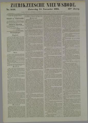 Zierikzeesche Nieuwsbode 1885-11-14