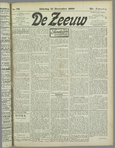 De Zeeuw. Christelijk-historisch nieuwsblad voor Zeeland 1920-12-21