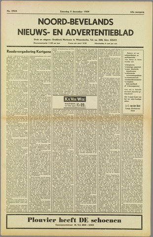 Noord-Bevelands Nieuws- en advertentieblad 1959-12-05