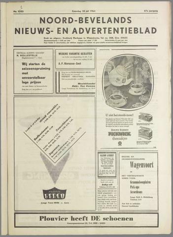 Noord-Bevelands Nieuws- en advertentieblad 1964-07-18