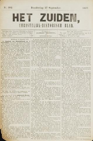 Het Zuiden, Christelijk-historisch blad 1877-09-27