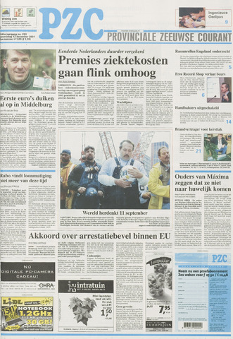Provinciale Zeeuwse Courant 2001-12-12