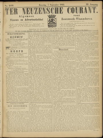 Ter Neuzensche Courant. Algemeen Nieuws- en Advertentieblad voor Zeeuwsch-Vlaanderen / Neuzensche Courant ... (idem) / (Algemeen) nieuws en advertentieblad voor Zeeuwsch-Vlaanderen 1895-09-07