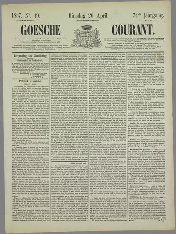 Goessche Courant 1887-04-26