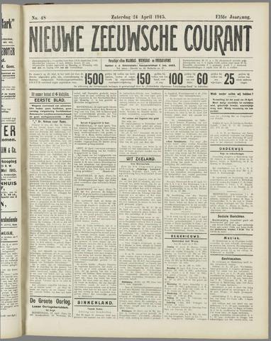 Nieuwe Zeeuwsche Courant 1915-04-24