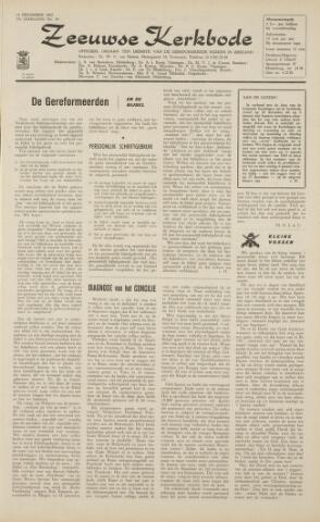 Zeeuwsche kerkbode, weekblad gewijd aan de belangen der gereformeerde kerken/ Zeeuwsch kerkblad 1962-12-14