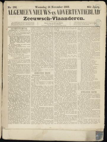 Ter Neuzensche Courant. Algemeen Nieuws- en Advertentieblad voor Zeeuwsch-Vlaanderen / Neuzensche Courant ... (idem) / (Algemeen) nieuws en advertentieblad voor Zeeuwsch-Vlaanderen 1866-11-14