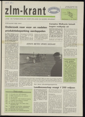 Zeeuwsch landbouwblad ... ZLM land- en tuinbouwblad 1993-03-19