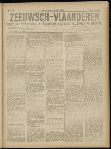 Luctor et Emergo. Antirevolutionair nieuws- en advertentieblad voor Zeeland / Zeeuwsch-Vlaanderen. Orgaan ter verspreiding van de christelijke beginselen in Zeeuwsch-Vlaanderen 1918-07-03