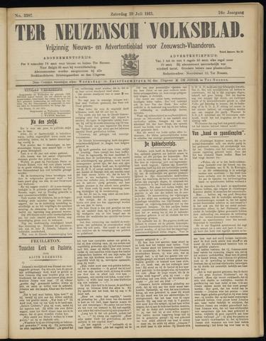 Ter Neuzensch Volksblad. Vrijzinnig nieuws- en advertentieblad voor Zeeuwsch- Vlaanderen / Zeeuwsch Nieuwsblad. Nieuws- en advertentieblad voor Zeeland 1913-07-19