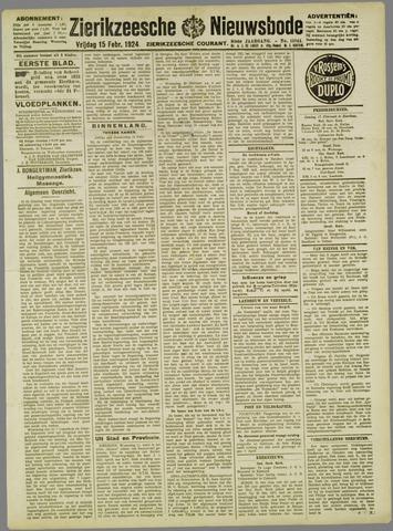 Zierikzeesche Nieuwsbode 1924-02-15
