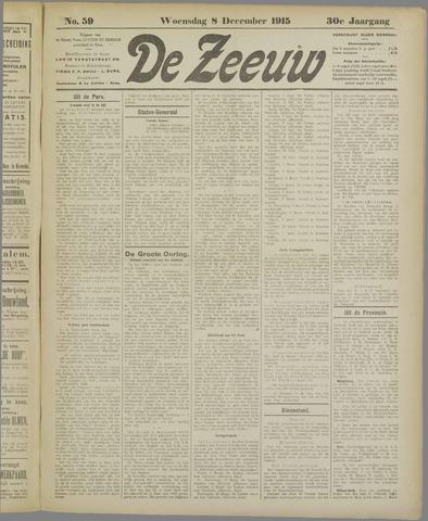 De Zeeuw. Christelijk-historisch nieuwsblad voor Zeeland 1915-12-08