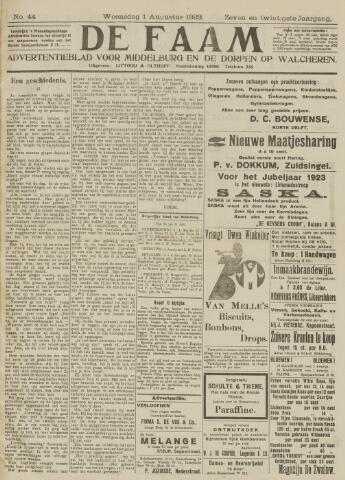de Faam en de Faam/de Vlissinger 1923-08-01