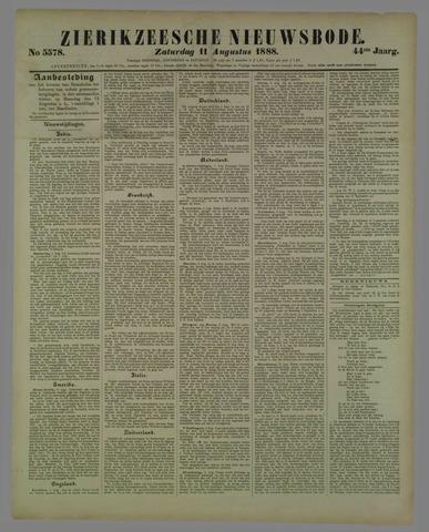 Zierikzeesche Nieuwsbode 1888-08-11