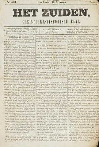 Het Zuiden, Christelijk-historisch blad 1880-02-26