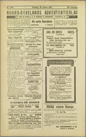 Noord-Bevelands Nieuws- en advertentieblad 1932-01-30