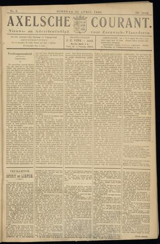 Axelsche Courant 1936-04-21