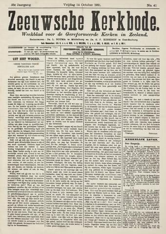 Zeeuwsche kerkbode, weekblad gewijd aan de belangen der gereformeerde kerken/ Zeeuwsch kerkblad 1921-10-14