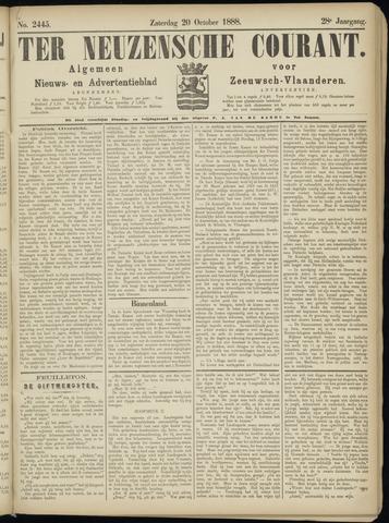Ter Neuzensche Courant. Algemeen Nieuws- en Advertentieblad voor Zeeuwsch-Vlaanderen / Neuzensche Courant ... (idem) / (Algemeen) nieuws en advertentieblad voor Zeeuwsch-Vlaanderen 1888-10-20